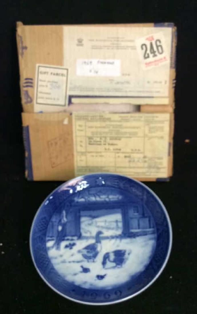 Royal Copenhagen 1969 Porcelain Collector  Plate