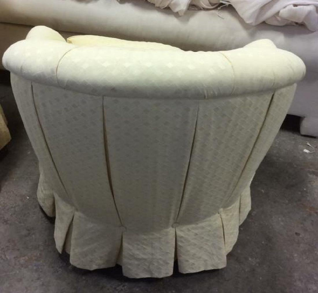 Pair Upholstered Swivel Tub Chairs Swivel Tub Chairs - 4