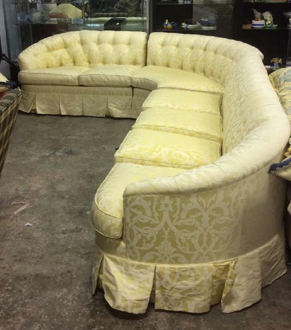 3 Piece Down Sectional Sofa Tufted back loose seats - 2