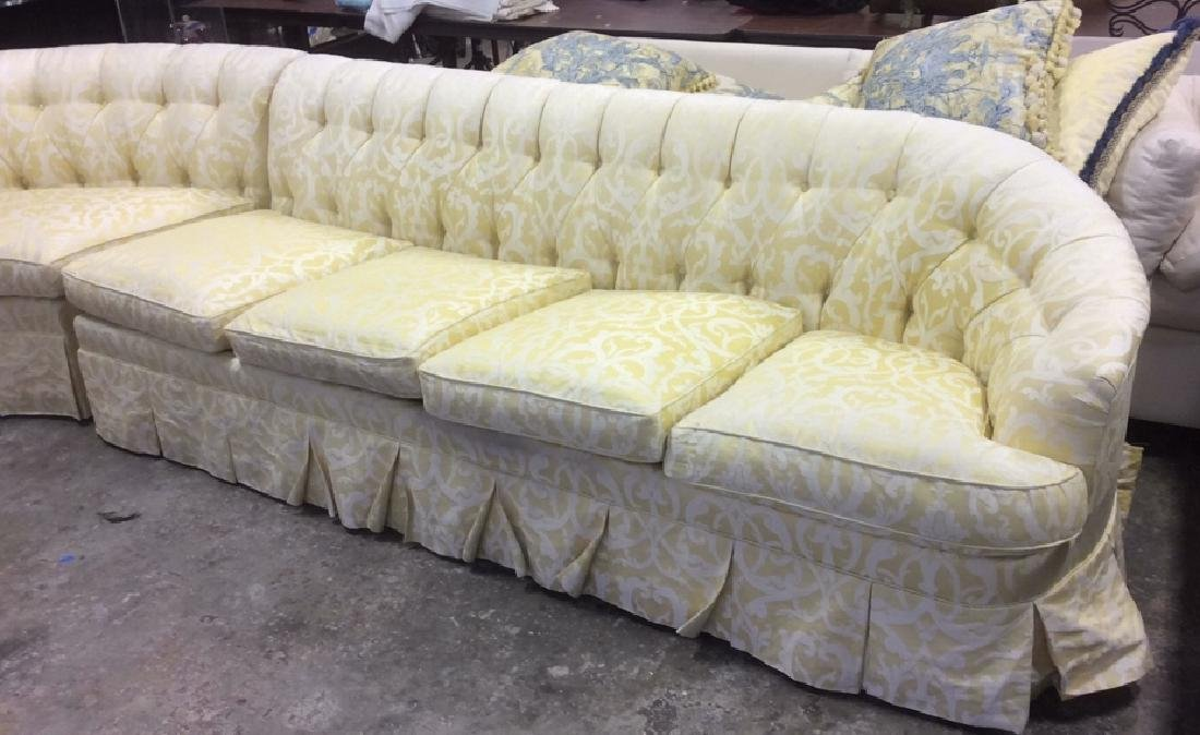 3 Piece Down Sectional Sofa Tufted back loose seats - 3
