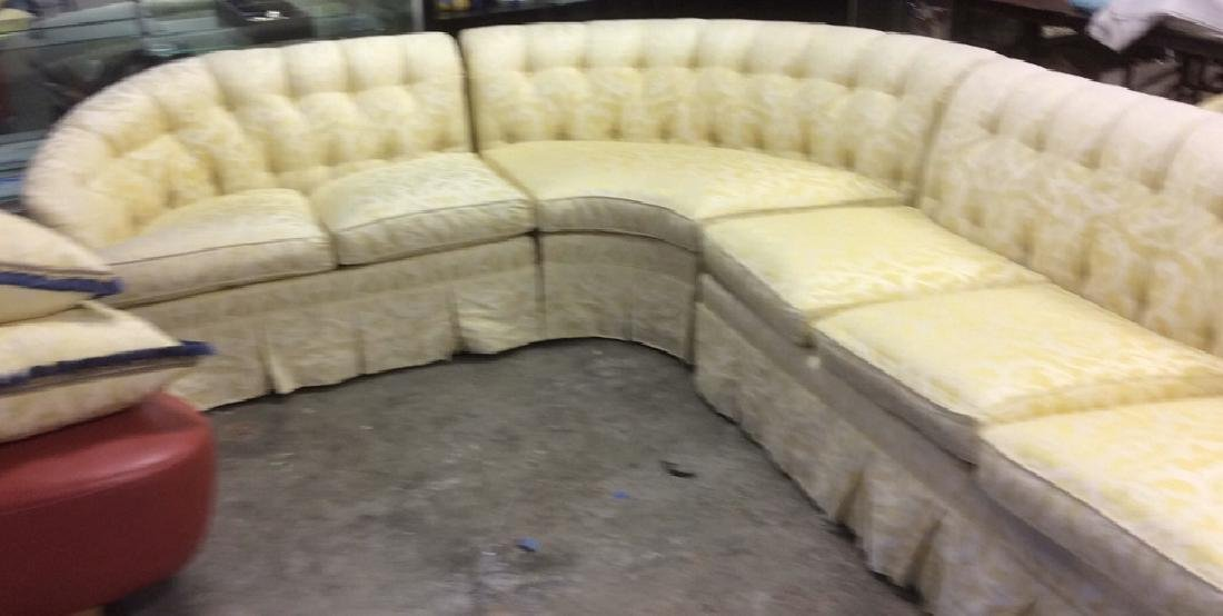 3 Piece Down Sectional Sofa Tufted back loose seats - 4