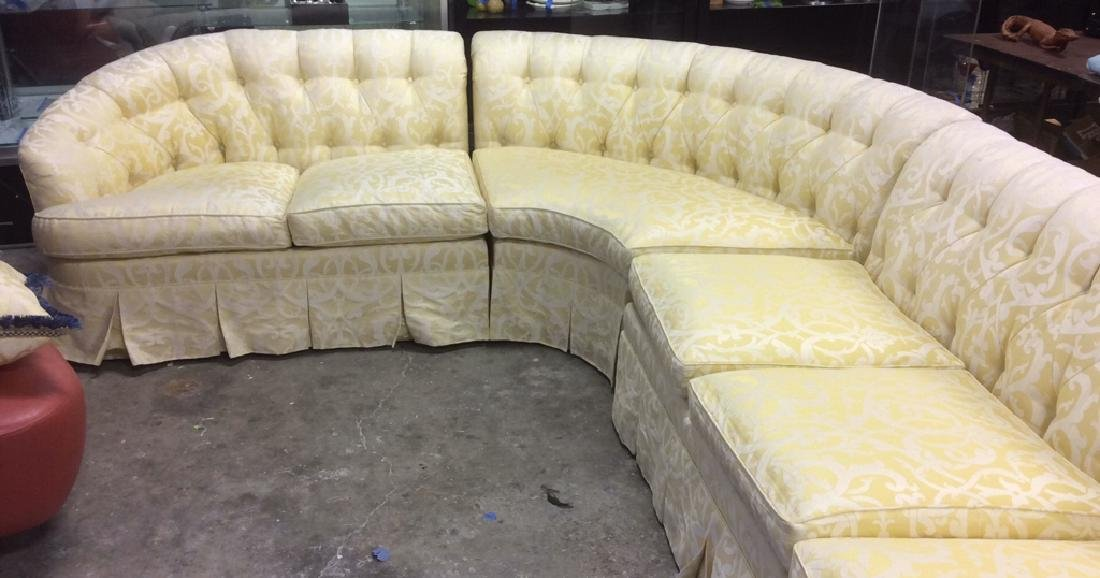3 Piece Down Sectional Sofa Tufted back loose seats - 5