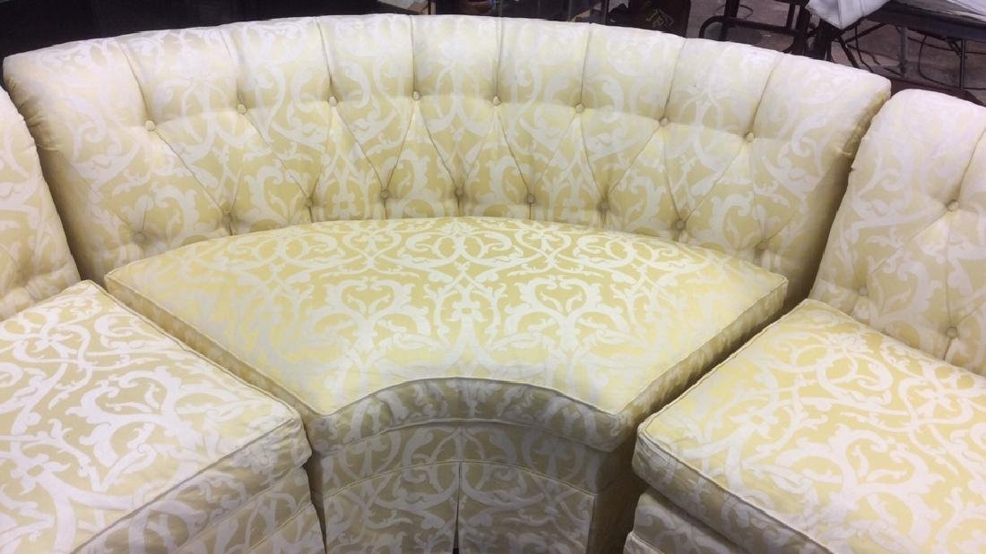 3 Piece Down Sectional Sofa Tufted back loose seats - 8