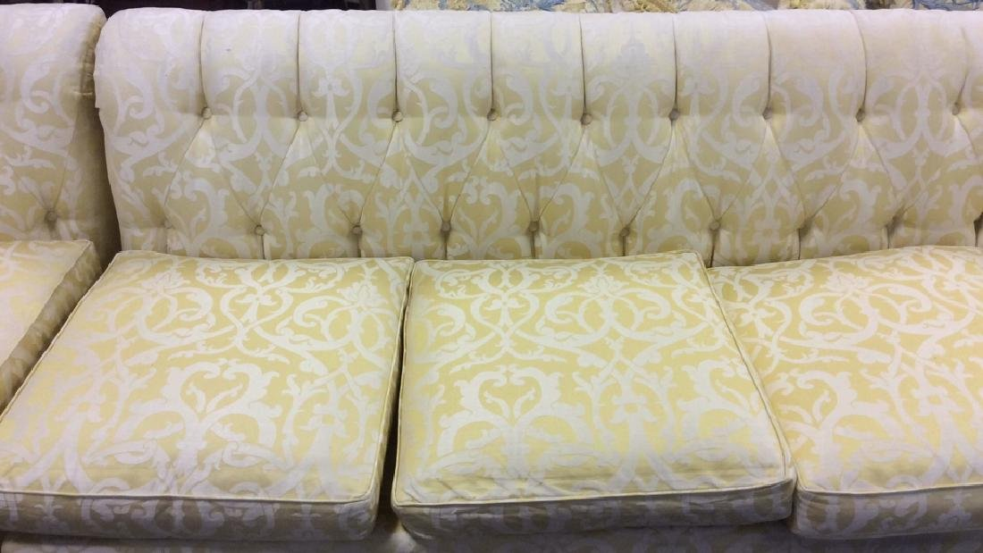 3 Piece Down Sectional Sofa Tufted back loose seats - 9