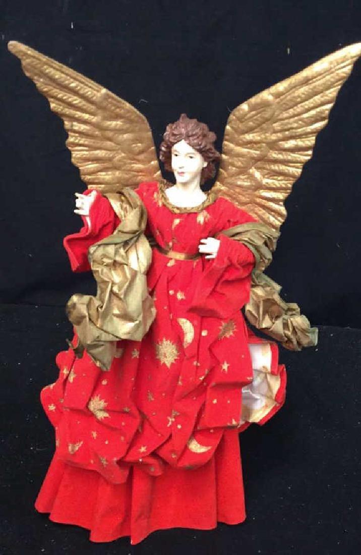 Pair of Decorative Christmas Angels Figures VIntage - 2