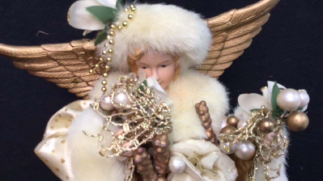 Pair of Decorative Christmas Angels Figures VIntage - 6