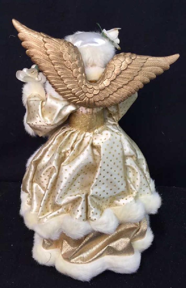 Pair of Decorative Christmas Angels Figures VIntage - 8
