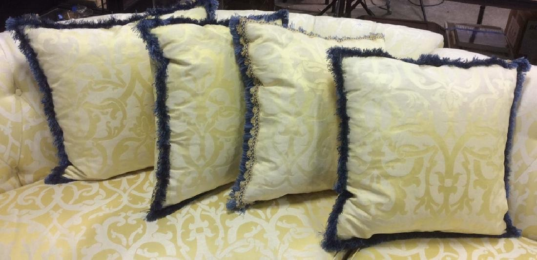 Set 4, Custom Down Filled Fringed Throw Pillows Throw
