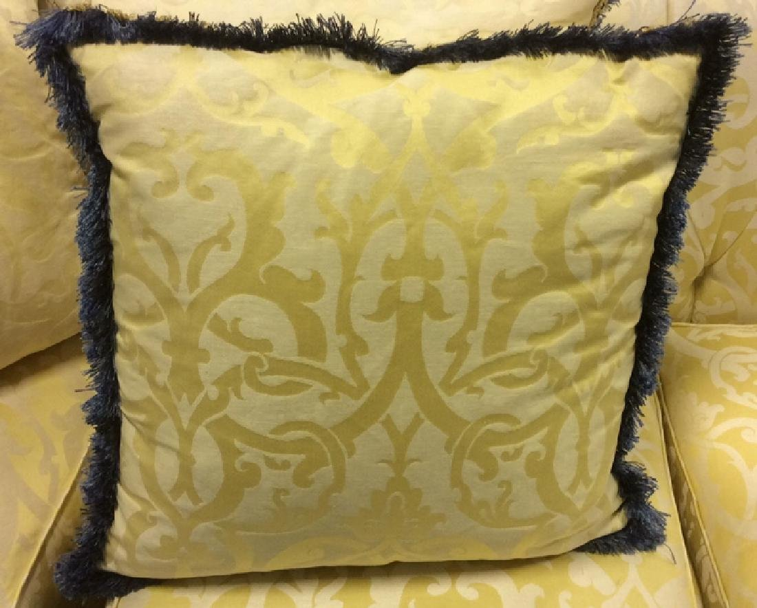 Set 4, Custom Down Filled Fringed Throw Pillows Throw - 5