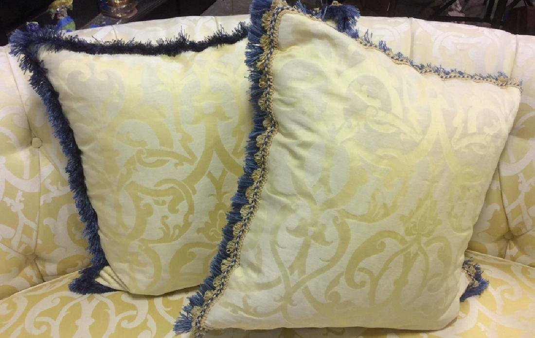Set 4, Custom Down Filled Fringed Throw Pillows Throw - 8