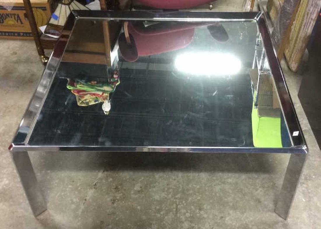 Chrome and Mirror Coffee Table Coffee table, low table, - 2