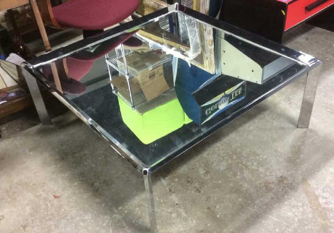 Chrome and Mirror Coffee Table Coffee table, low table, - 3