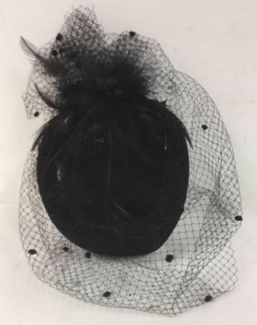 Vintage Ladies Feather With Netting Hat Vintage Ladies