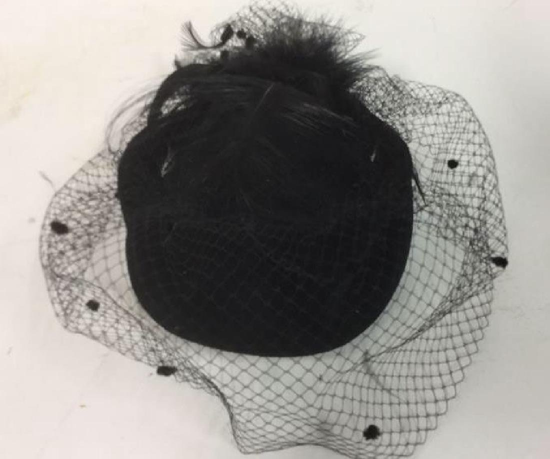 Vintage Ladies Feather With Netting Hat Vintage Ladies - 2