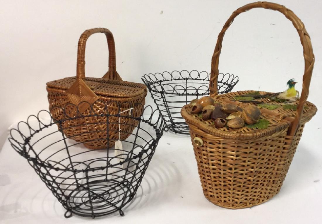 Basket Lot Featuring Nan Basket Purse 4 baskets