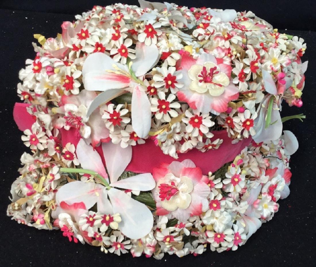 Vintage Ladies Hat Lace And Flowers Vintage ladies