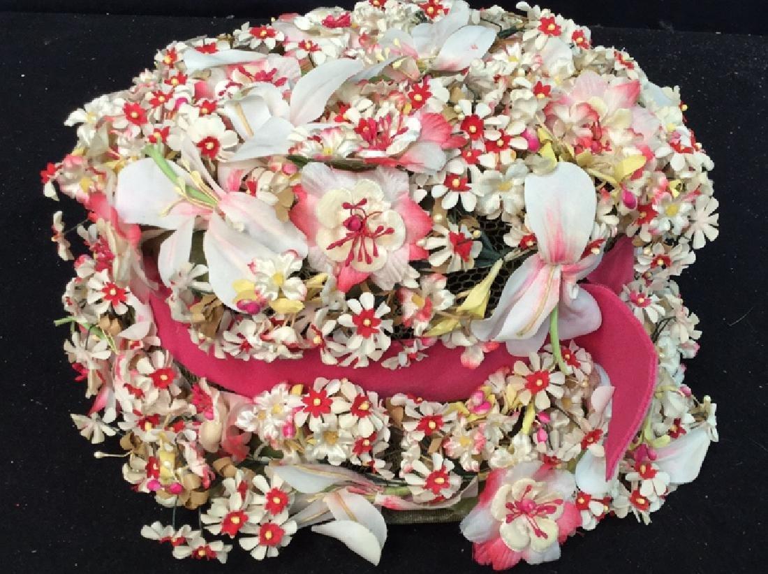 Vintage Ladies Hat Lace And Flowers Vintage ladies - 2