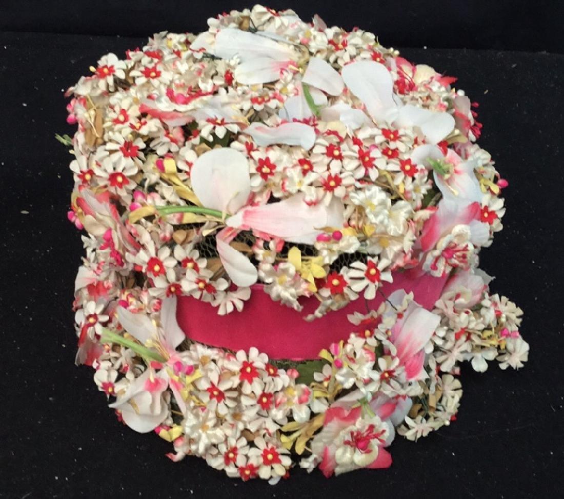 Vintage Ladies Hat Lace And Flowers Vintage ladies - 3