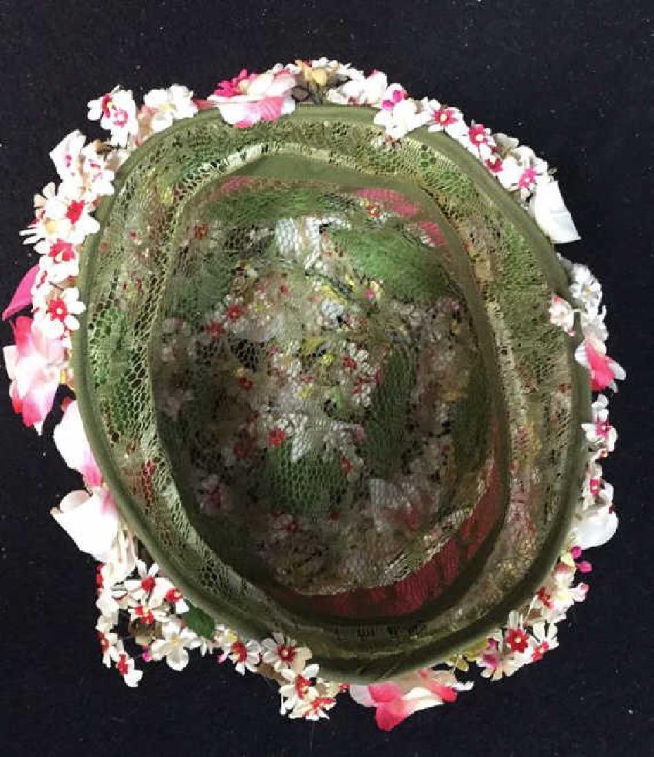 Vintage Ladies Hat Lace And Flowers Vintage ladies - 5