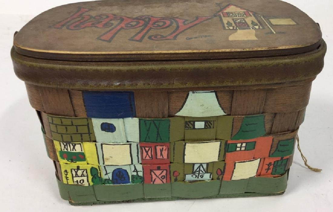 Vintage Caro Nan Basket Purse Vintage, mid-century