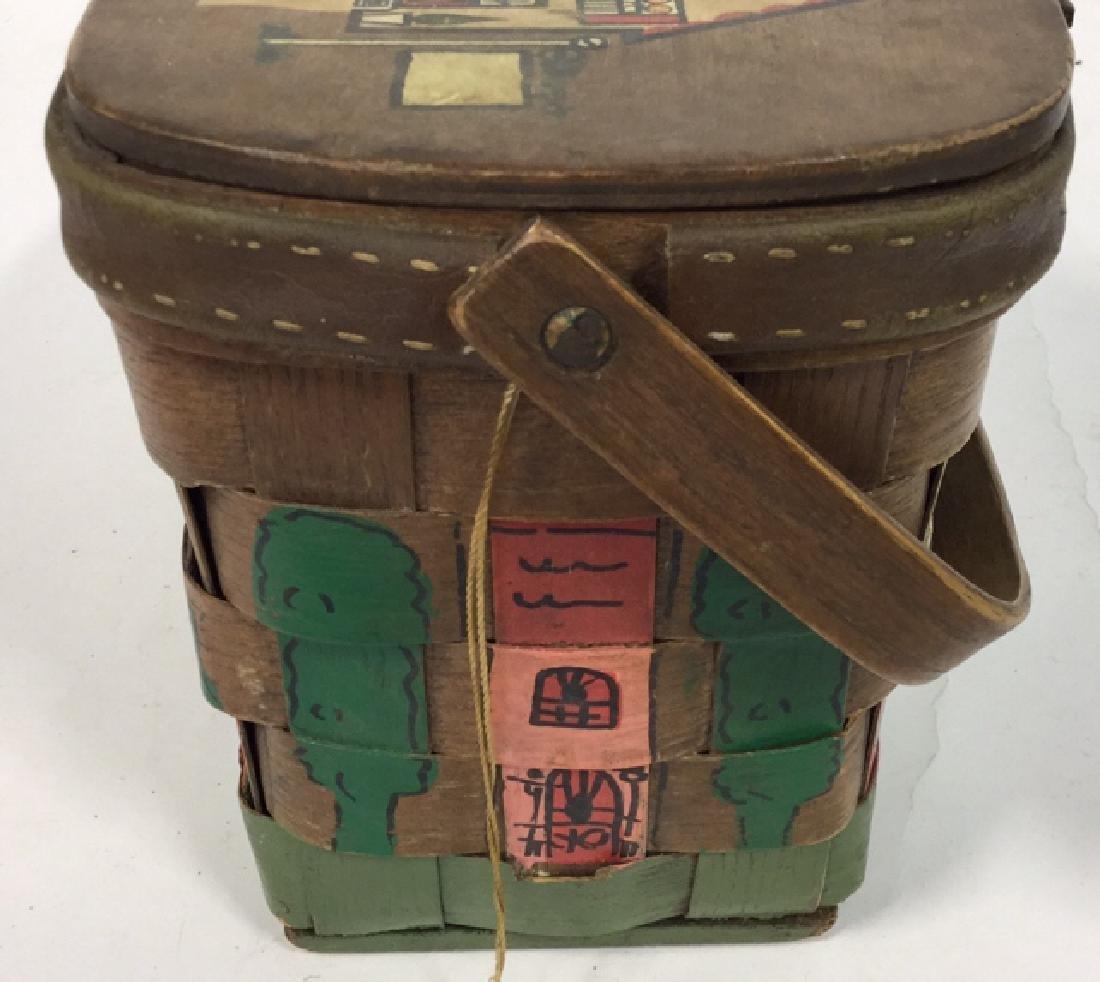 Vintage Caro Nan Basket Purse Vintage, mid-century - 2