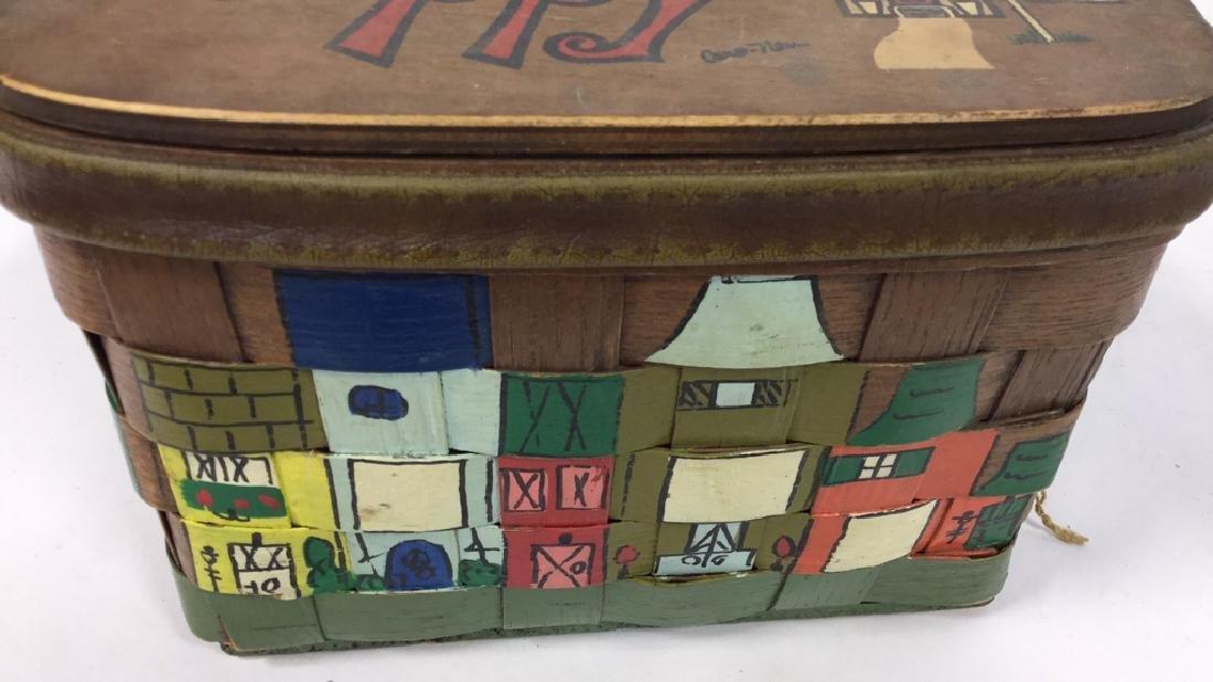 Vintage Caro Nan Basket Purse Vintage, mid-century - 5