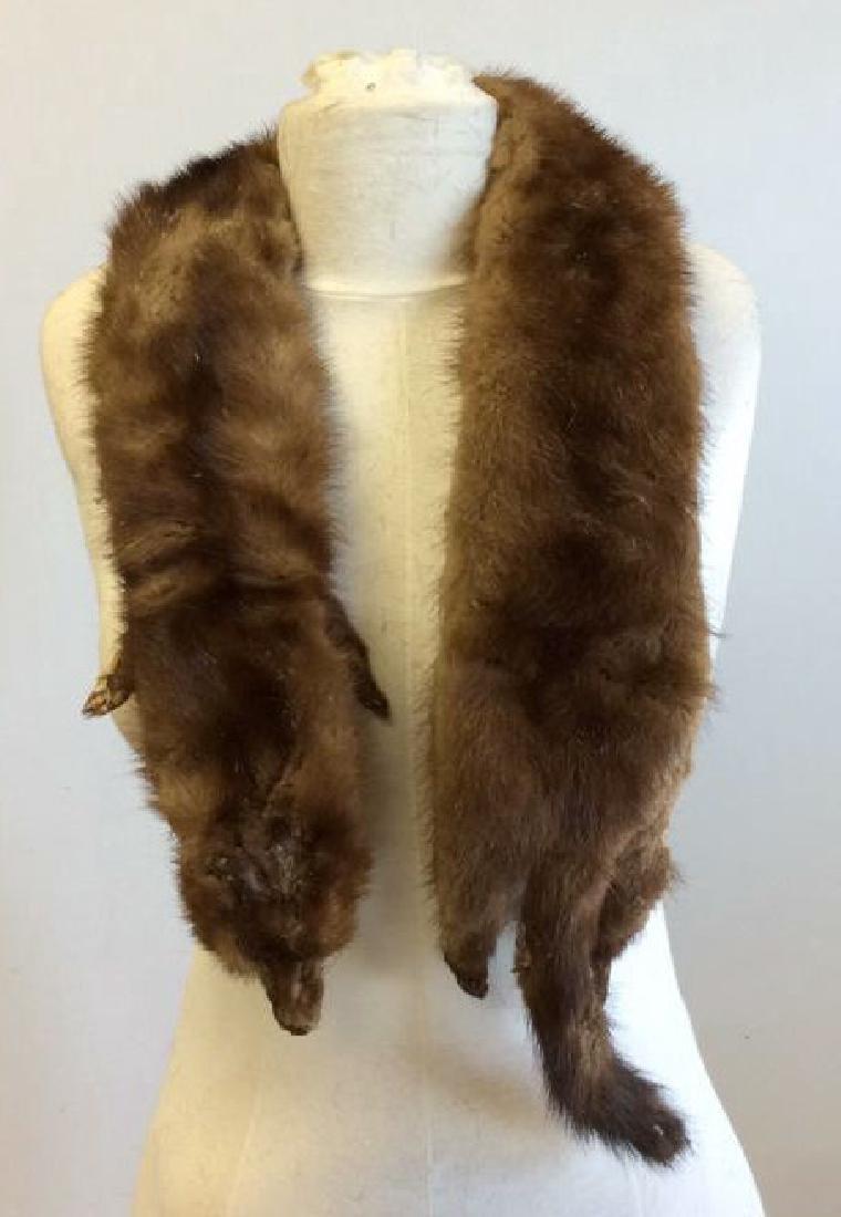 Vintage Mink Fur Stole and Stone Marten Vintage Ladies - 5
