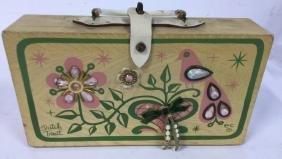 Vintage Box Handbag By Enid Collins Vintage wooden box