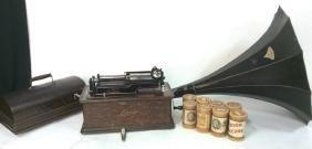 Antique Thomas Edison Model C Home Phonograph Antique