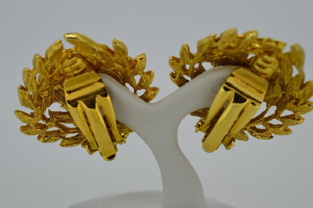"Goldtone Bold Clip-on Fashion Earrings Approx. 1"", - 4"