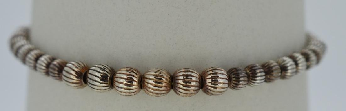 Sterling Silver Beaded Bracelet 7 inch simple styling,