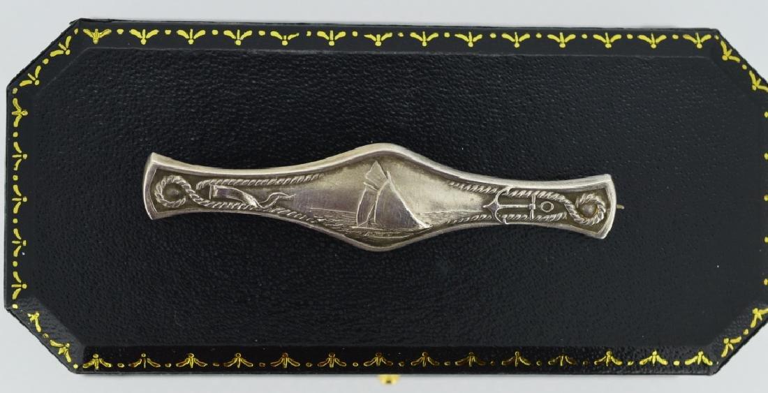 19th Century  Nautical Sailboat Pin Detailed desing - 3