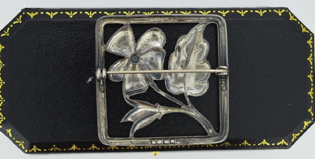 Vintage Sterling Flower Brooch Square shape, measures 1 - 2