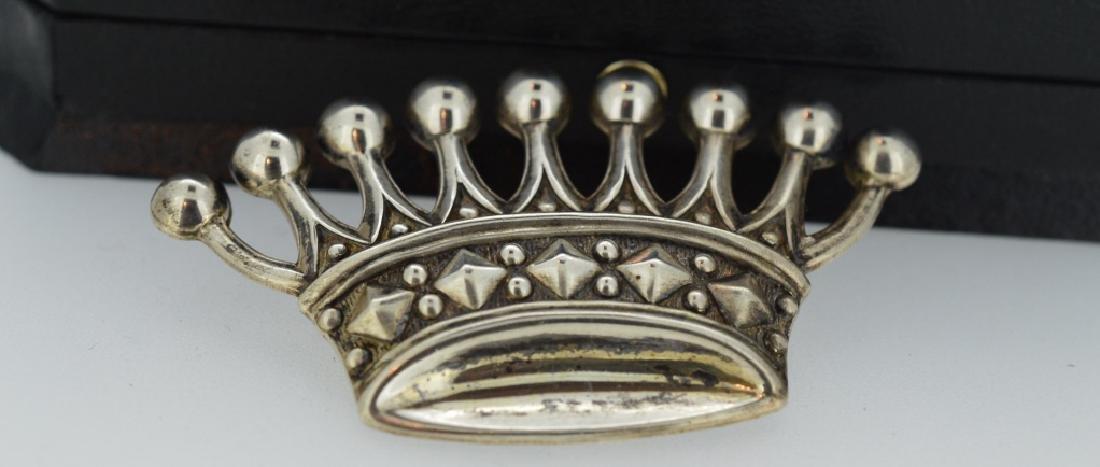 Vintage Sterling Tiara Brooch 8 point Tiara crown in