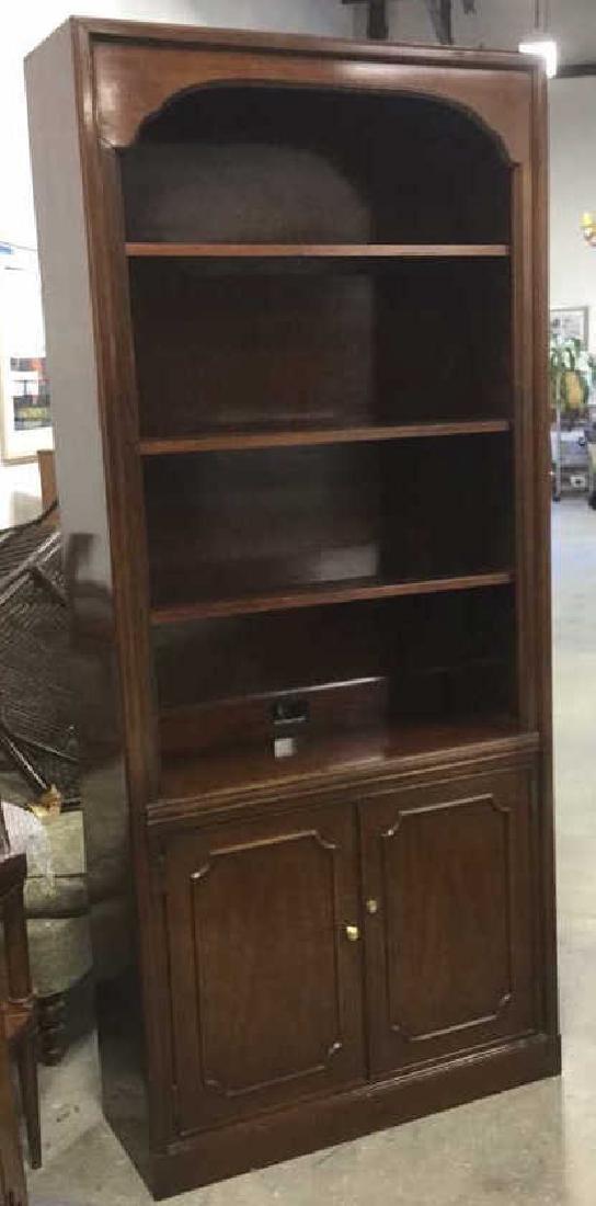 Mahogany Book Shelf Cabinet Upper section under carved