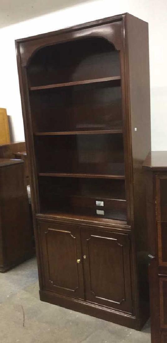 Mahogany Book Shelf Cabinet Upper section under carved - 2