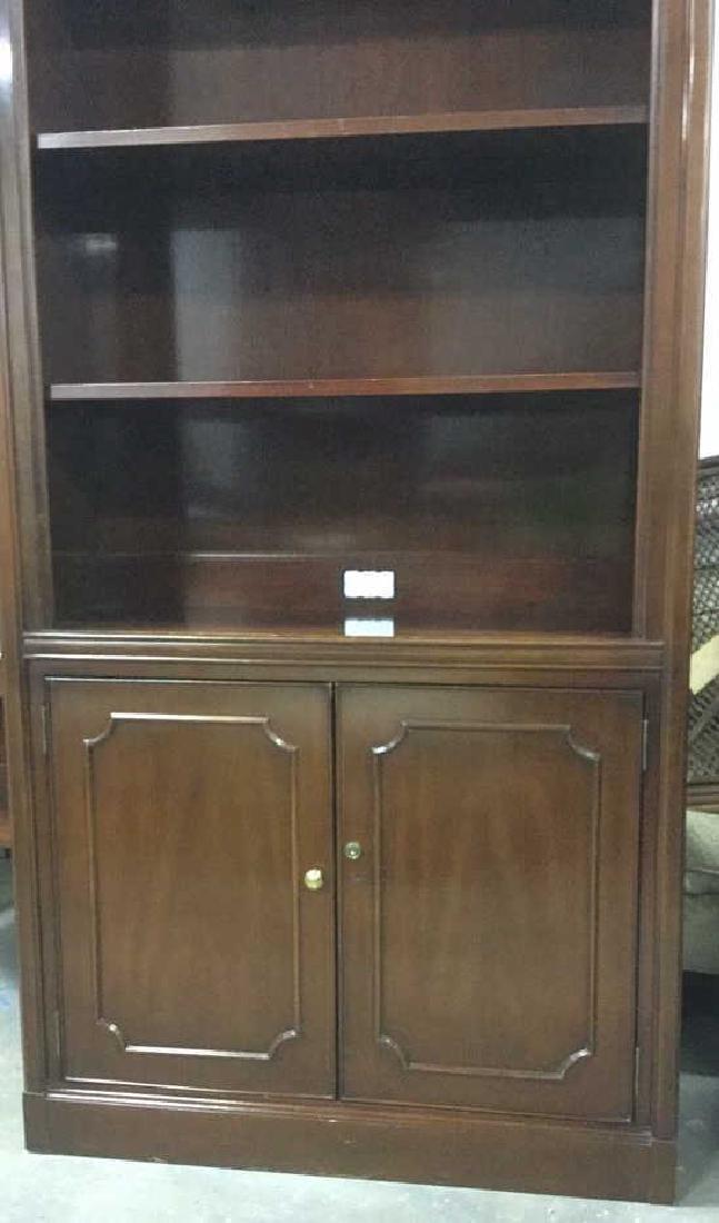 Mahogany Book Shelf Cabinet Upper section under carved - 3