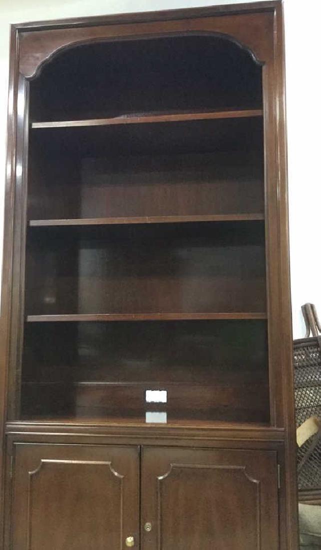 Mahogany Book Shelf Cabinet Upper section under carved - 4