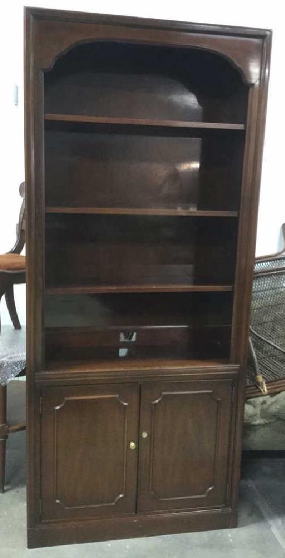 Mahogany Book Shelf Cabinet Upper section under carved - 5