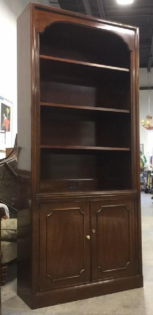 Mahogany Book Shelf Cabinet Upper section under carved - 6