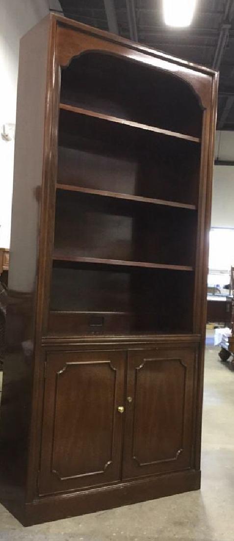 Mahogany Book Shelf Cabinet Upper section under carved - 7