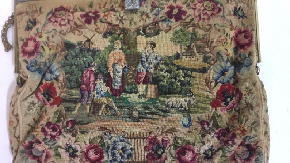 Antique Petit Point Tapestry Evening Bag Tapestry of - 2