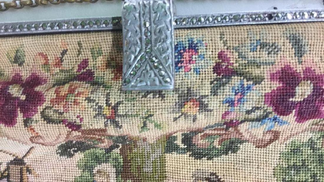Antique Petit Point Tapestry Evening Bag Tapestry of - 4
