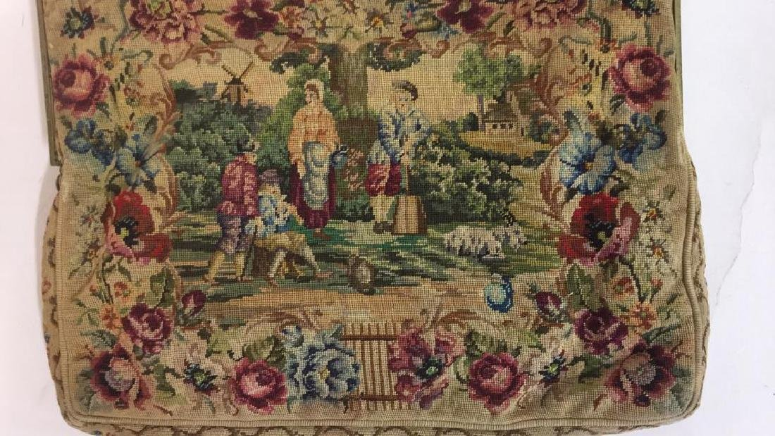 Antique Petit Point Tapestry Evening Bag Tapestry of - 5