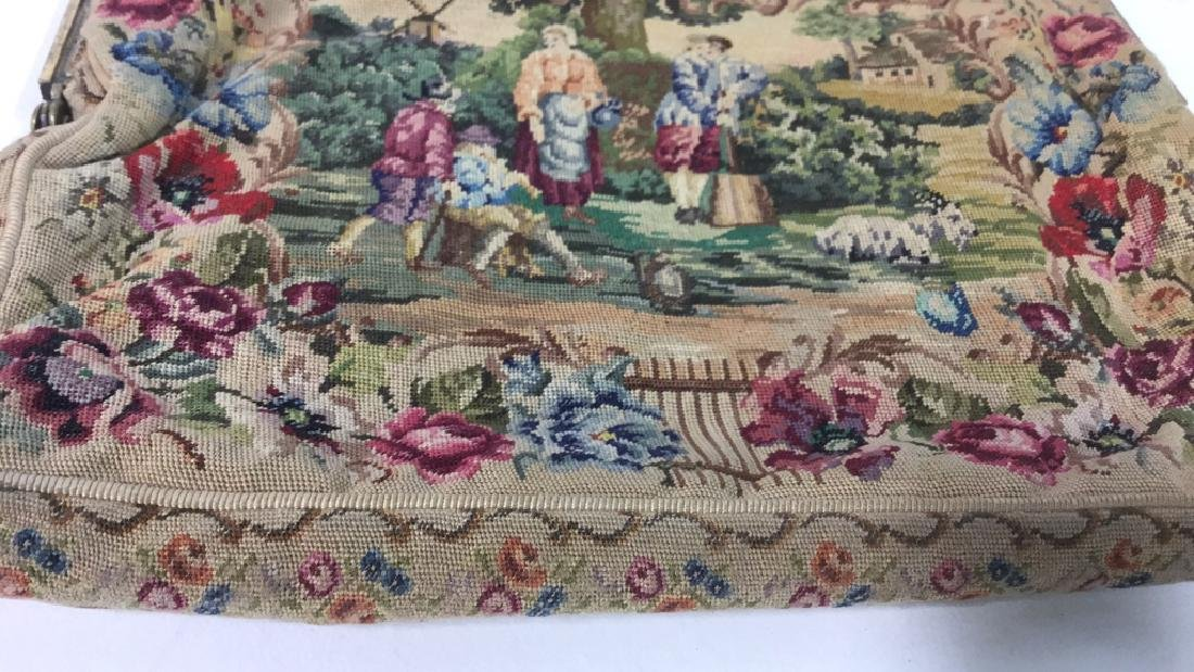 Antique Petit Point Tapestry Evening Bag Tapestry of - 7