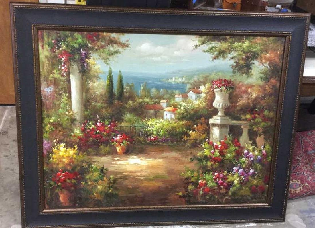 Scenic Painting on Canvas Framed Artwork is painting