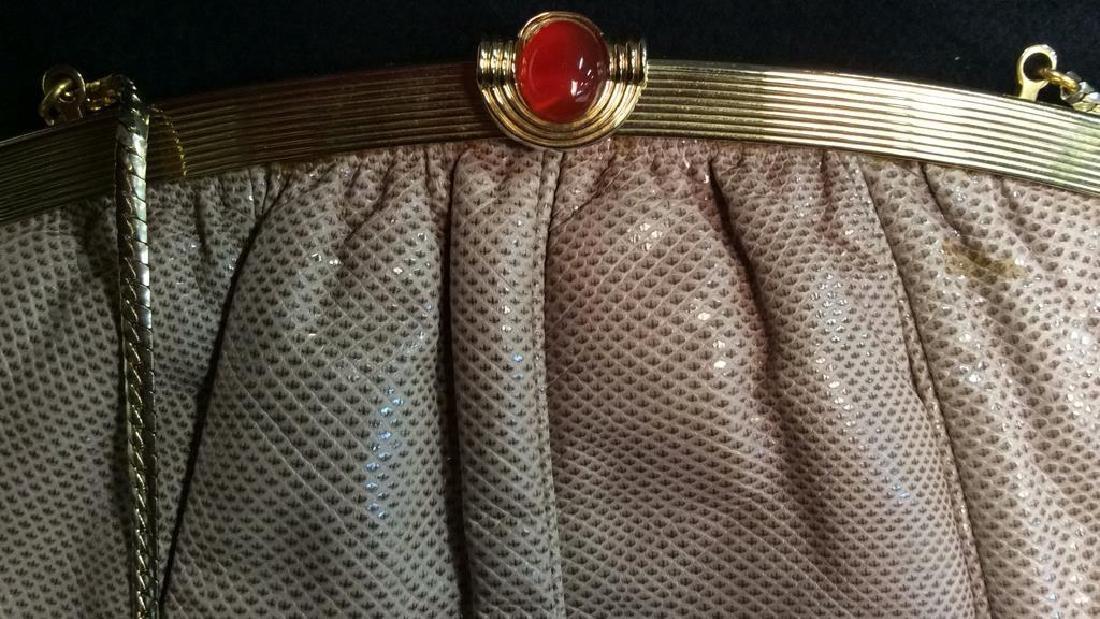 Judith Lieber Vintage Taupe Snake Skin Purse Soft Snake - 3