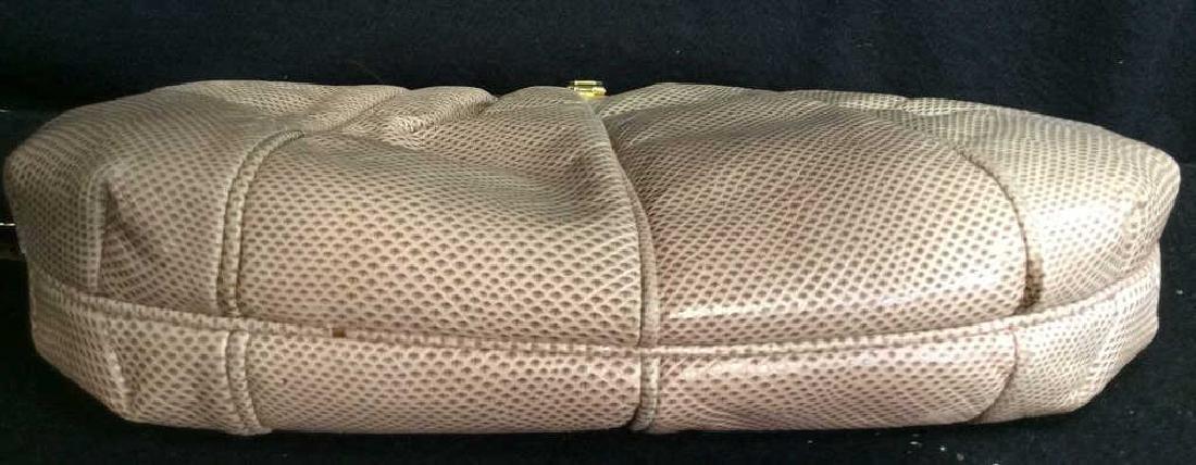 Judith Lieber Vintage Taupe Snake Skin Purse Soft Snake - 5