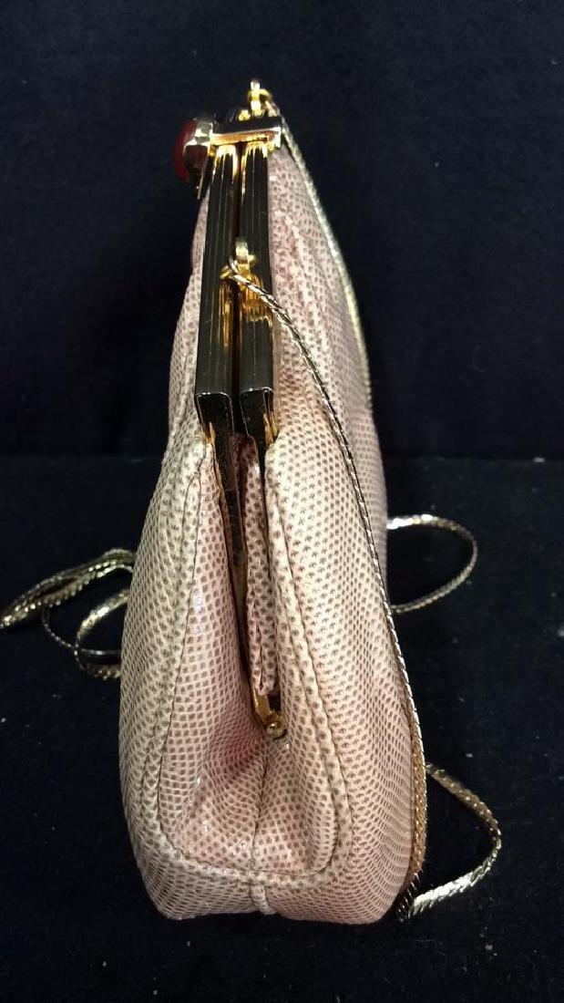 Judith Lieber Vintage Taupe Snake Skin Purse Soft Snake - 8