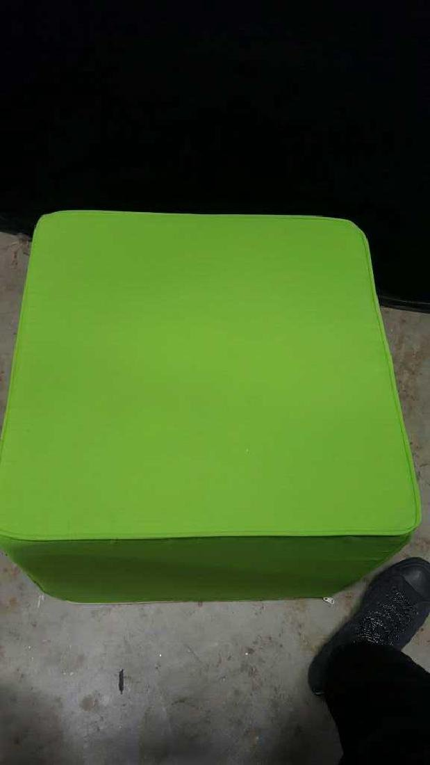 Pair of Lime Green Foam Ottomans Pair of Lime Green - 5